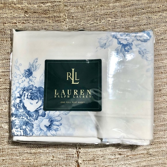 Ralph Lauren Catalina Floral blue full flat sheet